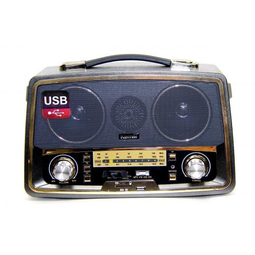радиоприемник Ретро KEMAI MD-1701U USB SD аккумулятор