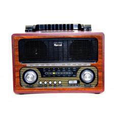 радиоприемник Ретро KEMAI MD-1800BT Bluetooth USB SD аккумулятор