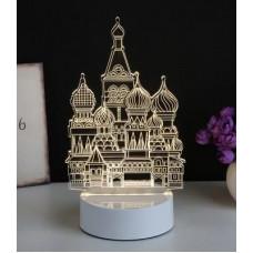 3D ночник Собор Василия Блаженного  (3 режима, MO-1649)