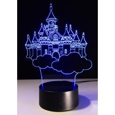 3D ночник Замок  (3 режима, MO-802)