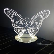 3D ночник Бабочка  (3 режима, MO-804)
