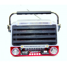 радиоприемник Ретро NNS NS-1379BT светомузыка Bluetooth USB аккумулятор
