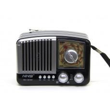 радиоприемник Ретро NNS NS-1381BT+Bluetooth+USB+SD+аккумулятор