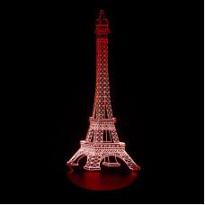 3D ночник Эйфелева башня  (3 режима, MO-1647)