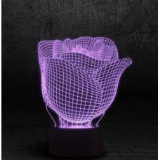 3D ночник Роза  (3 режима, MO-1643)