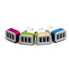 авто зарядка 3 USB, 1A 2A 2,1A (A30)