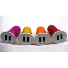 авто зарядка 2 USB, 2A матовая (A13)