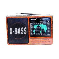радиоприемник GOLON RX-1413BT+Bluetooth+USB+SD+фонарик+аккумулятор