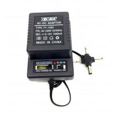 универсальный адаптер с переключающимися режимами 12W 1000mA TY-1002