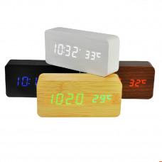 часы (деревянные) дата температура VST-862