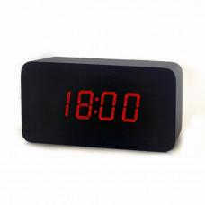 часы (деревянные) дата температура VST-863/1 (красный)
