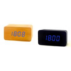 часы (деревянные) дата температура VST-863/5 (ярко-синий)