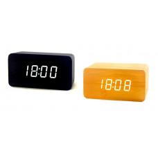 часы (деревянные) дата температура VST-863/6 (белый)