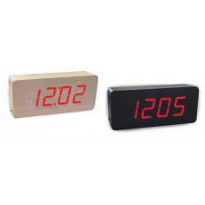 часы (деревянные) дата температура VST-865/1 (красный)