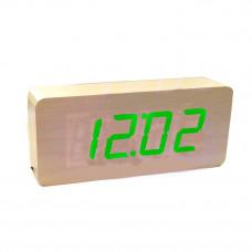 часы (деревянные) дата температура VST-865/4 (ярко-зеленый)