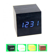 часы (деревянные) дата температура VST-869
