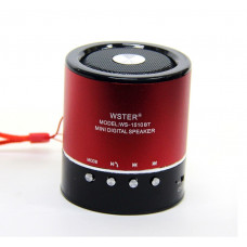 колонка WSTER Bluetooth USB SD мик аккумулятор BL-5 WS-1510BT