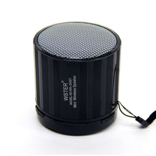 колонка WSTER Bluetooth USB SD мик аккумулятор BL-5 WS-230BT